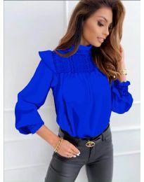 Блуза - код 6202 - темно сина