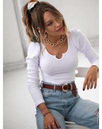 Блуза - код 11493 - бело