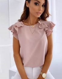 Блуза - код 3299 - пудра