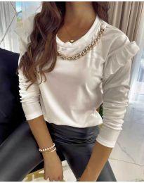 Блуза - код 6189 - бело