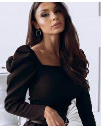 Блуза - код 3504 - црна