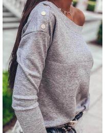 Блуза - код 4417 - сиво