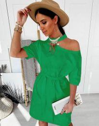 Фустан - код 5848 - 6 - зелена