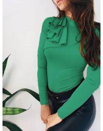 Блуза - код 7987 - зелена