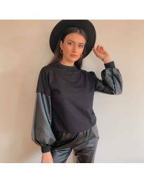 Блуза - код 5171 - 4 - црна