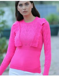 Блуза - код 2214 - циклама