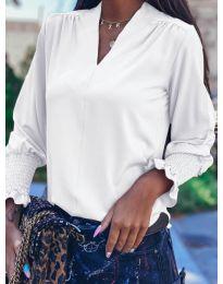Блуза - код 4549 - бело