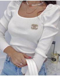 Блуза - код 2180 - 5 - бело