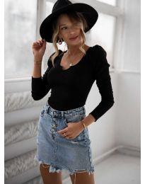 Блуза - код 11493 - црна