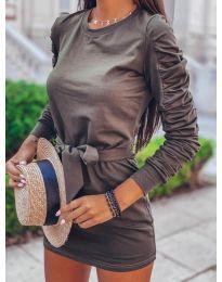 Фустан - код 2529 - темно сива