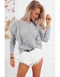 Блуза - код 5321 - сиво
