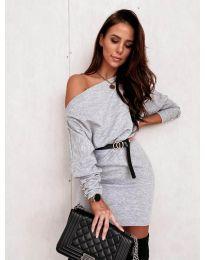 Фустан - код 4442 - сиво