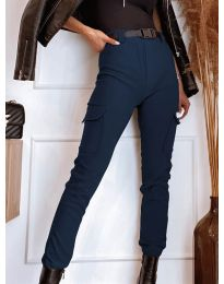 Панталони - код 4842 - темно сина