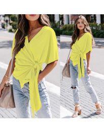 Блуза - код 0009 - жолта