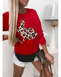 Блуза - код 4001 - црвена
