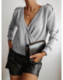 Блуза - код 294 - сиво
