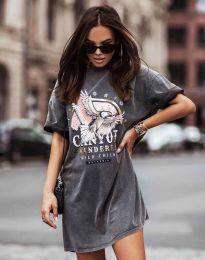 Фустан - код 3225 - графитна