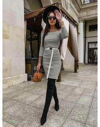 Фустан - код 5190 - сиво