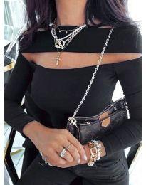 Блуза - код 5766 - црна