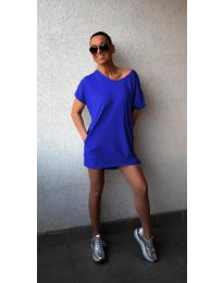 Фустан - код 3080 - темно сина