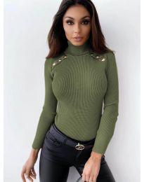 Блуза - код 1910 - зелена