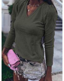 Блуза - код 0755 - путер зелена