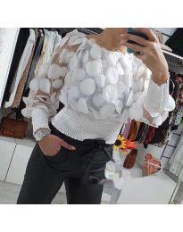 Блуза - код 3530 - бела