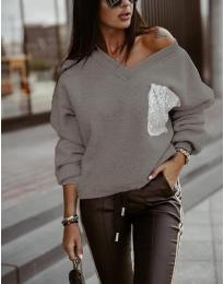Блуза - код 904 - сиво