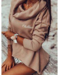 Блуза - код 7878 - пудра
