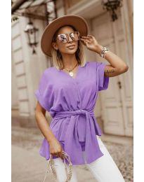 Блуза - код 3070 - виолетова