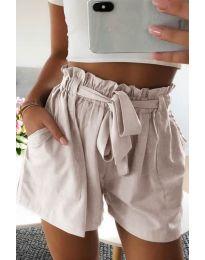 Кратки панталони - код 3637 - кремова