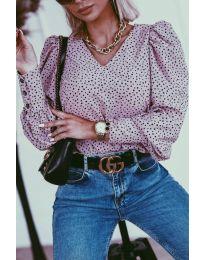 Блуза - код 3250 - виолетова