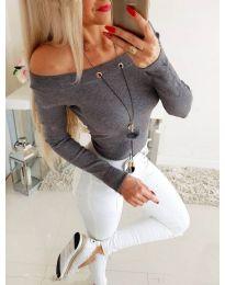 Блуза - код 3572 - сиво