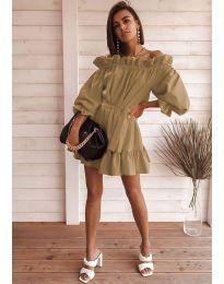 Фустан - код 3386 - кафеава