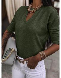 Блуза - код 8059 - путер зелена