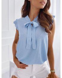 Блуза - код 300 - светло сина