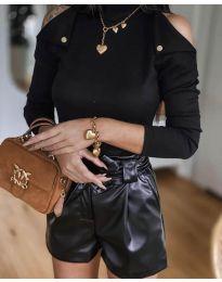 Блуза - код 1596 - црна