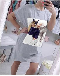 Фустан - код 619 - сиво