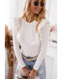 Блуза - код 1454 - 2 - бело