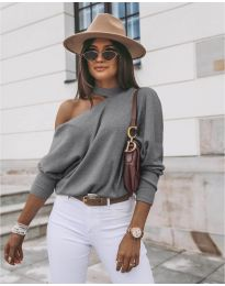 Блуза - код 5618 - сиво