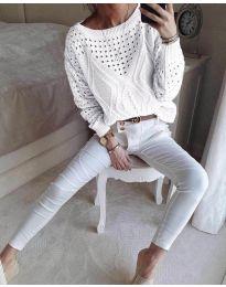 Блуза - код 6182 - бело