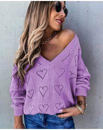 Блуза - код 137 - виолетова