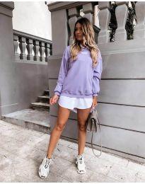 Блуза - код 5154 - виолетова