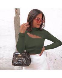 Блуза - код 919 - путер зелена