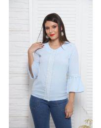 Блуза - код 0629 - 3 - светло сина