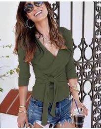 Блуза - код 9291 - путер зелена