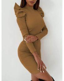 Фустан - код 9303 - кафеава