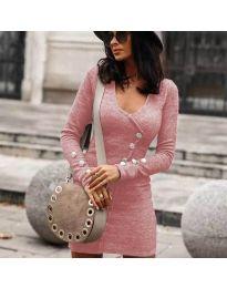 Фустан - код 4516 - розова