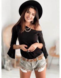 Блуза - код 8353 - црна