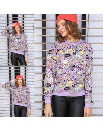 Блуза - код 1471 - 6 - виолетова